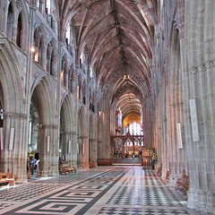 Worcester Cathedral (Tudor Barlow) Tags: worcester worcestercathedral england cathedrals listedbuilding gradeilistedbuilding nave summer canonpowershotsx620hs