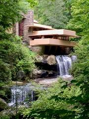 Fallingwater (karma (Karen)) Tags: fallingwater millrun pa franklloydwright organichouse waterfalls trees woods htmt iphone nrhp topf25