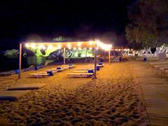 Beach House Resort at Night (dimaruss34) Tags: newyork brooklyn dmitriyfomenko image greece antiparos resort beachhouseresort trees beach chaiselongue night lights