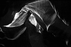 Shapes and shadows (alestaleiro) Tags: abstract mono monocromo monochrome light luz canyon atilopecanyon arizona pagw navajoland bw bianconero cavern erosion coloradoriver alestaleiro