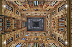 Galleria Sciarra (neoBIT) Tags: arches atrium architecture art building construction decoration fretwork geometric glass heritage historic landmark modernstyle modernismo monument moulding muralpainting ornamentation pattern picturesque relief sgraffiti stone stucco wall wife windows artnouveau cittadelvaticano lazio italy santeustachio it
