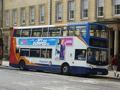 Stagecoach East Scotland 18333 in Saint Andrew Square, Edinburgh. (calderwoodroy) Tags: parkandride servicef59 alexanderalx400 dennistridentsfd sf55noh 18333 stagecoacheastscotland stagecoach doubledecker bus saintandrewsquare newtown edinburgh scotland