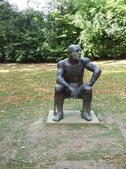 Elisabeth Frink, Seated Man II, 1986 (paulineandjohng2008) Tags: elisabethfrink frink yorkshiresculpturepark seatedman