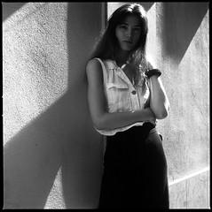 Helena Prat (RafaelGonzalez.) Tags: helenaprat barcelona portrait 6x6 mediumformat hasselblad500cm ilfordhp5plus filmphotography analogue rafaelgonzalez