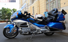 Blue Honda GoldWing (dmitrytsaritsyn) Tags: afsnikkor2470mm128ged photography nikon outdoor motorcyclephotography d3s stpetersburg harleydays honda goldwing russia bike