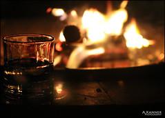 Enjoying The Fire Pit... (angelakanner) Tags: canon70d 50mmlens garden longisland fire glass