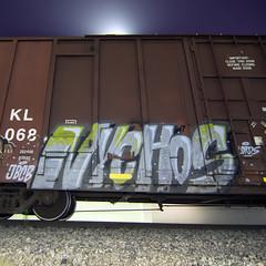 NYCHOS (TRUE 2 DEATH) Tags: nychos lords longexposure boxcar train freight railroad benching railfan railcar trains graffiti graf railways tag freighttrain freighttraingraffiti rollingstock