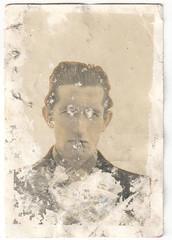 The Man Vanishes (Fremdwortlexikon) Tags: blackandwhite schwarzweis bw monochrome man mann portrait people porträt person damage waterdamage schäden
