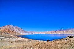 Tso-moriri - the Sacred Lake in Ladakh (pallab seth) Tags: tsomoriri lakemoriri ladakh jammukashmir india autumn colour color landscape mountains himalayas highaltitudelake morning tsomoririwetlandconservationreserve blackheadedgulls migratory birds lake