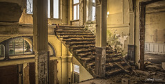 Lost Staircase (Northcraft Photographs) Tags: lost places urbex urban exploration abandoned staircase treppen verfallen verlassen left behind forgotten castle schloss mainhall old alt rotten sony alpha a57 sigma