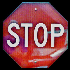 STOP (byzantiumbooks) Tags: werehere hereios stop sign word self selfreflection