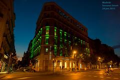 MADRID: SERRANO STREET (poseinformal) Tags: 2015 bluehour calleserrano madrid nightview recoletosstreet serranostreet spain comunidaddemadrid españa es