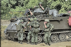AIPS M113s in Action (zoomerphil) Tags: vietnam war battle m113 tank armoured tracked car attack fight soldier troops gi
