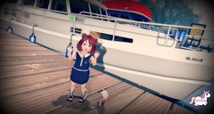 Ahoy (MegsPinkSparkle) Tags: bad seed bebe body cutebytes cute baby toddleedoo child kid play family roleplay blog little clover thimble shop hop playroom ballet pink red head gray photography second life frank pig doe tilted halo mother sister gym life2 unicorn sail travel