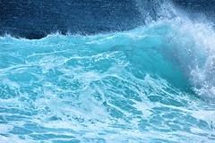 Beauty of waves (thomasgorman1) Tags: waves nature shore beach water hawaii nikon oahu pacific ocean sea splash curl kaena