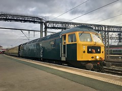 Sleeper Duff's Trip to the Seaside (TimboM) Tags: gbrf gbrailfreight 47727 spoon caledoniansleeper midnightteal charter class47 duff 1z47 1z48 crewe crewestation excursion edinburghcastle caistealdhuneideann