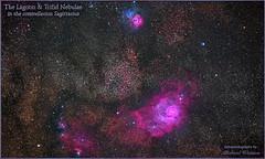 2018 May 11 ~ The Lagoon & Trifid Nebulae in the constellation Sagittarius (msfwatson@rogers.com) Tags: astrometrydotnet:id=nova2713710 astrometrydotnet:status=solved