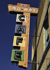 CAFE (Rusty Irons) Tags: newmexico neon cafe sign old decay downtown small town city america nostalgia eat diner colorful