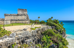 Mexico-131129-571 (Kelly Cheng) Tags: maya mayan mexico northamerica tulum yucatán architecture blue bluesky building color colorful colour colourful culture day daylight heritage landscape outdoor ruins sunny sunshine tourism travel traveldestinations vivid