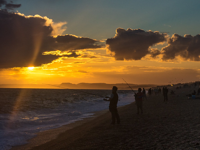 Sunset on Chesil Beach