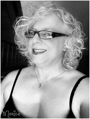 Hi There ! (Monica E Lopez) Tags: androgyny androgynous sissy tg ts tv tgirl trans transexual transgender transsexual transvestite genderbender gurl m2f mtf feminization crossdress crossdresser femme feminine feminized hrt hormones passable monotone bw blackandwhite tanktop glasses