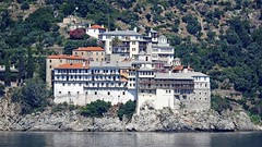 Greece, Macedonia, Aegean Sea, Osiou Grigoriou monastery view from a boat cruising around Mount Athos peninsula (Macedonia Travel & News) Tags: greecemacedonia agiooros cruise chalkidiki aegeansea macedoniatravel greece makedonia macedoniatimeless macedonian macédoine mazedonien μακεδονια ancient greek culture vergina sun blog star thessaloniki hellenic republic prilep tetovo bitola kumanovo veles gostivar strumica stip struga negotino kavadarsi gevgelija skopje debar matka ohrid mavrovo heraclea lyncestis history alexander great philip macedon nato eu fifa uefa un fiba macedonianstar verginasun macedoniapeople macedonians peopleofmacedonia macedonianpeople macedoniablog macedoniagreece timeless македонија macedonianews macedoniapress македонијамакедонскимакедонци