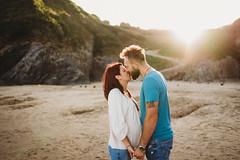 (Wojtek Piatek) Tags: couple beach shot 35mm sony a7iii kiss love engagement maternity ireland dublin summer sunset golden hours fashion sigma