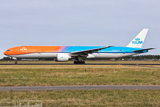 PH-BVA KLM Royal Dutch Airlines Boeing 777-306(ER) painted in #Orange Pride special colours (AMS - EHAM - Amsterdam Schiphol)