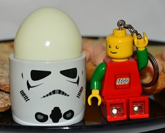 Breakfast 224/2018 (Charles Dawson) Tags: eggs eggcup stormtrooper starwars food breakfast