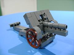 Custom Lego WW1 German canon Skoda M14 MOC prototype 1 (TekBrick) Tags: custom lego ww1 german canon skoda model m14 war brick moc prototype 1 wip