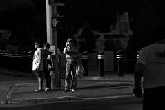 Safety First  !!! (imagejoe) Tags: vegas nevada street strip black white photography photos shadows reflections tamron people nikon