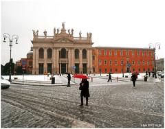 P1060645 19x24 2012 (M64RM) Tags: roma piazzasangiovanniinlaterano neve2012