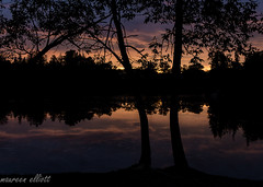 After The Sunset (maureen.elliott) Tags: dusk camping ferrisprovincialpark trentriver water colours trees silhouettes landscape sunset skies reflections