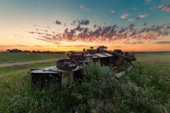 Dead Harvester (Lights Out Images) Tags: thrashingmachine nodak northdakota ndlegendary dakota harvest harvester combine farming farm agriculture abandoned sunrise sunset