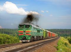 2TE116-1509, Sumy oblast, Сумська область (Jiří Tomíček) Tags: ukrajina pociag photography te trainspotting trains železnice railway zug uz summer