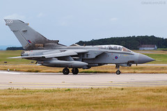 Royal Air Force, Tornado GR4, ZA449 / 020. (M. Leith Photography) Tags: raf lossiemouth moray scotland royal air force jet panavia tornado gr4 sunshine side aviation photography mark leith nikon lossie grass cockpit sky aircraft airplane