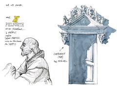 Clermont-Oise, Méru (gerard michel) Tags: france picardie oise village architecture porte sketch croquis