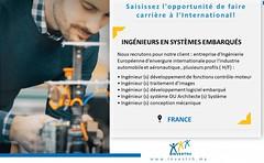 Invest RH recrute 30 Ingénieurs en Systèmes Embarqués (Postes basés en France) (dreamjobma) Tags: 082018 a la une casablanca ingénieurs invest rh emploi et recrutement rabat
