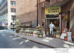 Flower Market Maiden Lane  circa  1983 (albany group archive) Tags: 1980s old albany ny vintage photos picture photo photograph history historic historical maiden lane flower market