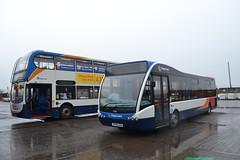 Stagecoach Western 15994 YN64XSY & 25218 SF08GOA (Will Swain) Tags: ardrossan depot 10th march 2018 scotland scottish north bus buses transport travel uk britain vehicle vehicles county country stagecoach western 15994 yn64xsy 25218 sf08goa
