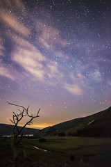 Inchavore Valley - Midsummer Nights (Edward Wolohan) Tags: astronomy astrophotography astrophoto nightsky wicklowmountains wicklow ireland loughdan inchavore oakwood milky way milkyway lake