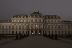 Belvedere (wagnerchristian.com) Tags: belvedere night vienna architecture history historic palace austria summer fineart contrast