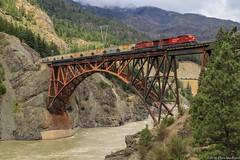 CP 9604 ~ Cisco (Chris City) Tags: train railway railroad mainline bridge river canyon potash freight cpr ac4400cw