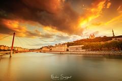 Sunset Lyon (Njones03) Tags: 2018 bluehour clouds lyon nicolassavignat nisi nisifilters nisifrance river sky sunset lyon2earrondissement auvergnerhônealpes france fr
