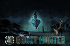 FPI-GHOST HUNTER-FIZZ © Cody Jacobson-ZEN MOUNTAIN MEDIA all rights reserved (codyjacobson@zenmountainmedia.com) Tags: zen mountain logo tshirt poster design photohsop digital art portfolio landscape photography composite dark ghostfpi freelance private investigations fizz paranormal unexplained shield badge night cemetary abondonded farm house trees overcast sky clouds woman dog bandit bmw car headlights haunted aura blue green split toning grave site headstones levitation typography fonts text picoftheday photo oregon 2018 exploringtheartofimagination zenmountainmediacom