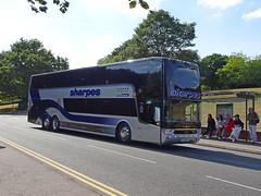 Sharpes YJ16EOS Nottingham University (Guy Arab UF) Tags: sharpes yj16eos van hool tdx27 astromega coach bus east drive nottingham university park buses