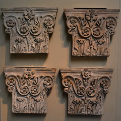 London, England, UK - British Museum - Ancient Greece and Rome - Pilaster Capitals from the Pantheon, Rome (jrozwado) Tags: europe uk unitedkingdom england london museum britishmuseum history culture anthropology capital pantheon roman