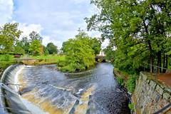 The river (Brooks Payne) Tags: brooksbos boston river water bridge trees dam waterfall beautiful nikon d5600 falls fisheye hdr