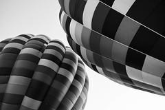 Air balloons (Pierrexp2) Tags: airballoon abstract flight composition fuji fujinonxf16f14 16mm air pattern aeronautical pilot blackandwhite monochrome