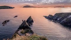 Caon's Harbour (TheWildFireOne) Tags: landscape sunset ireland islands water peninsula rocks dingle blue ocean blaskets irishlandscape kerry red summer sky seascape coastalfeature coast clouds sea